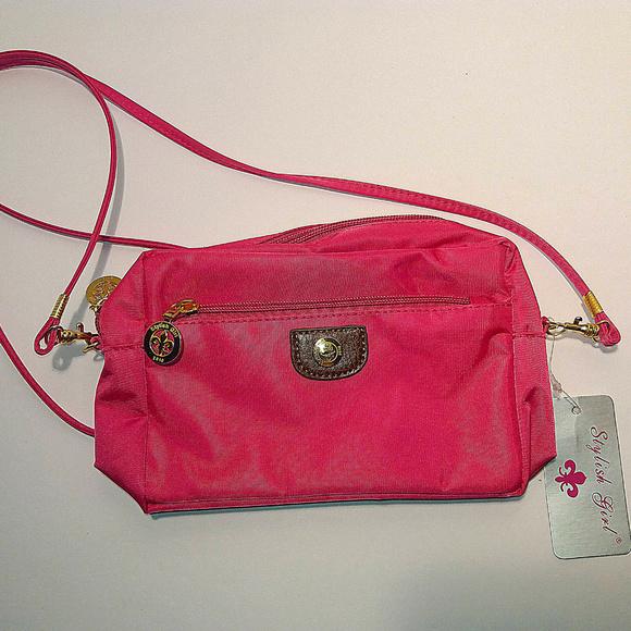 Stylish Girl Hot Pink Shoulder Bag NWT